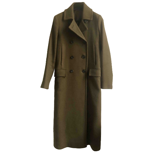 Theory Khaki Wool Coat