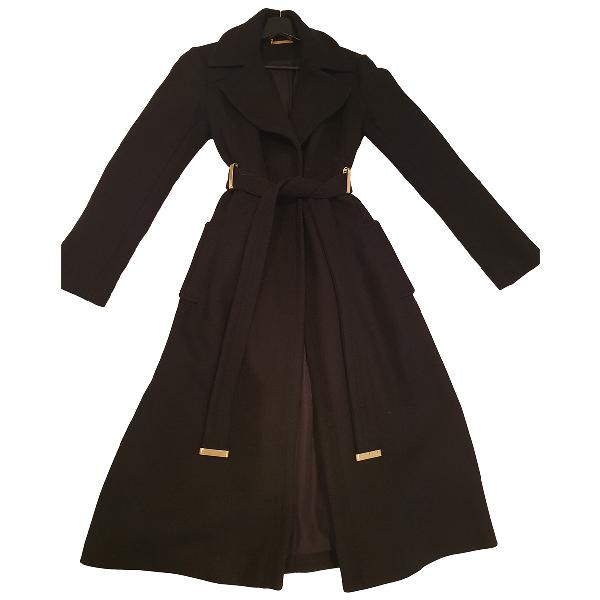 Diane Von Furstenberg Black Wool Coat