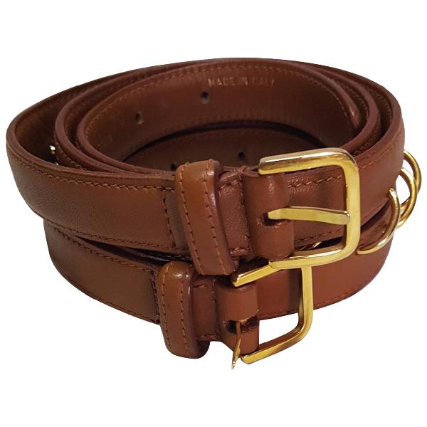 Valentino Garavani Camel Leather Belt