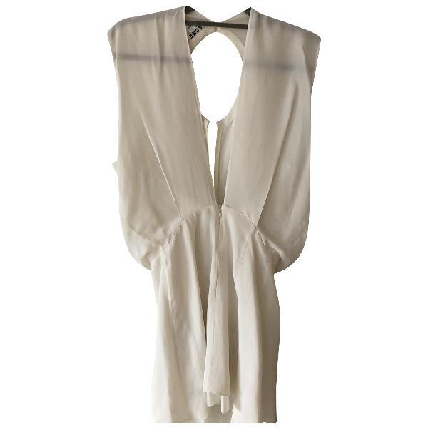 Acne Studios White Cotton - Elasthane Dress