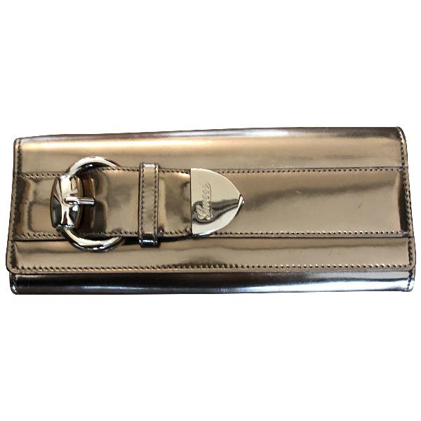 Gucci Gold Patent Leather Clutch Bag