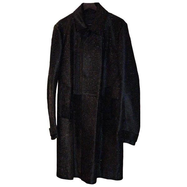 Burberry Black Pony-style Calfskin Coat