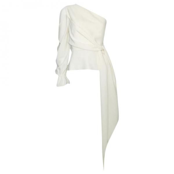 Roland Mouret White Silk  Top