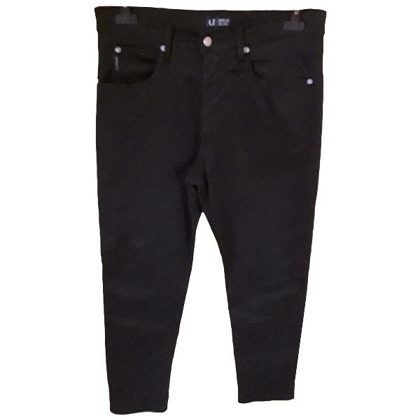 Armani Jeans Black Cotton Trousers