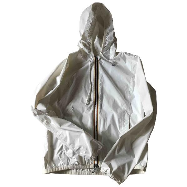 K-way White Trench Coat