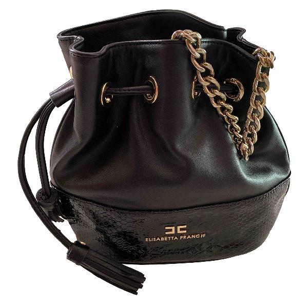 Elisabetta Franchi Black Leather Handbag
