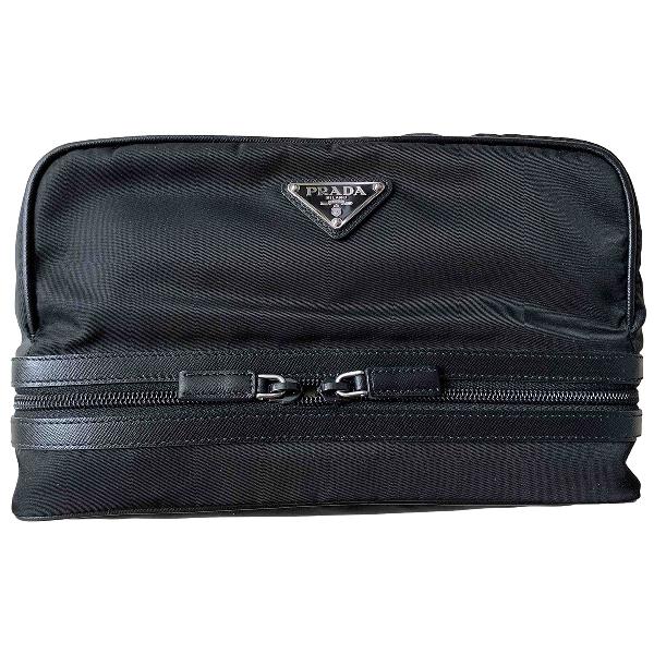 Prada Black Cloth Travel Bag