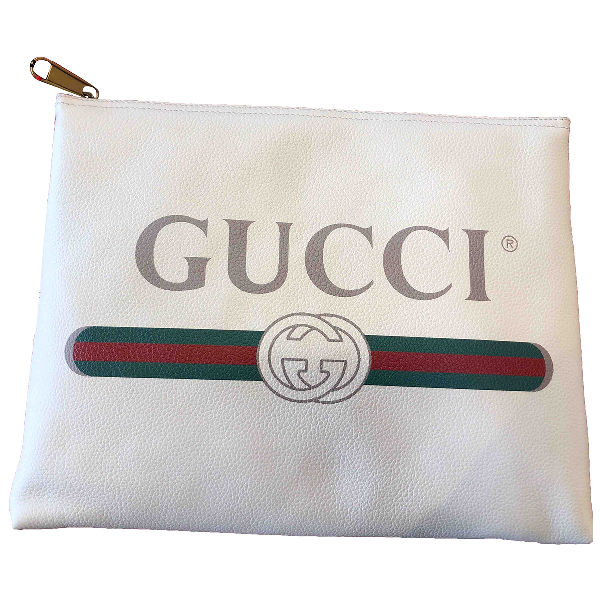 Gucci Ecru Leather Small Bag, Wallet & Cases