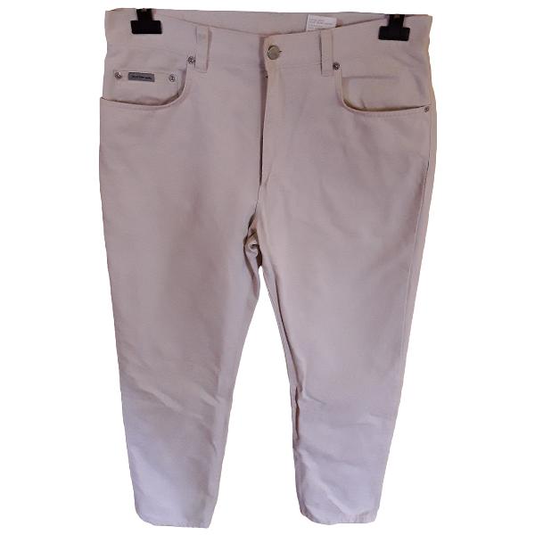 Calvin Klein Beige Cotton Trousers