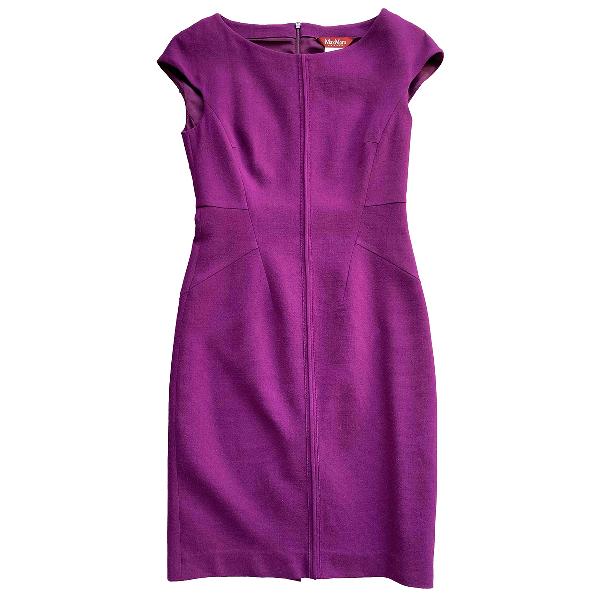 Max Mara Purple Wool Dress
