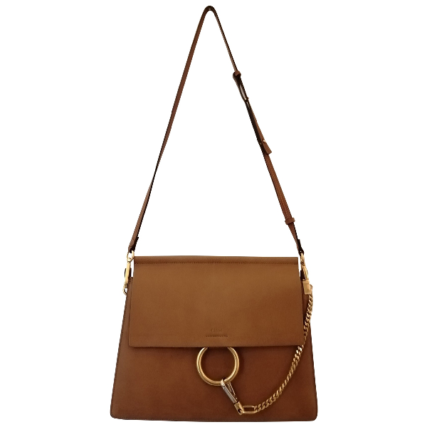 ChloÉ Faye Camel Leather Handbag