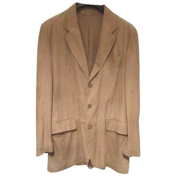 Gucci Beige Suede Jacket