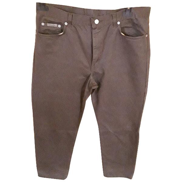 Calvin Klein Brown Cotton Trousers
