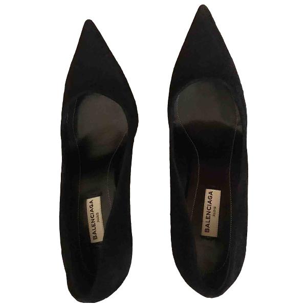 Balenciaga Black Suede Heels