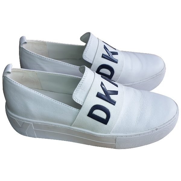 Dkny White Leather Trainers
