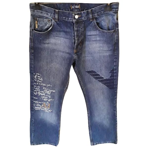 Armani Jeans Blue Cotton Trousers