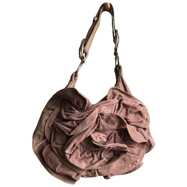 Saint Laurent Pink Suede Handbag