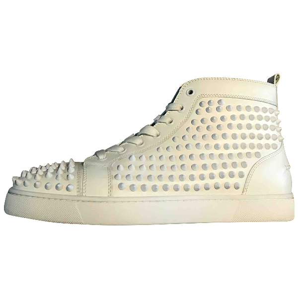 Christian Louboutin Louis White Leather Trainers