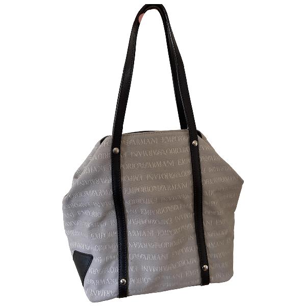 Emporio Armani Grey Cotton Handbag