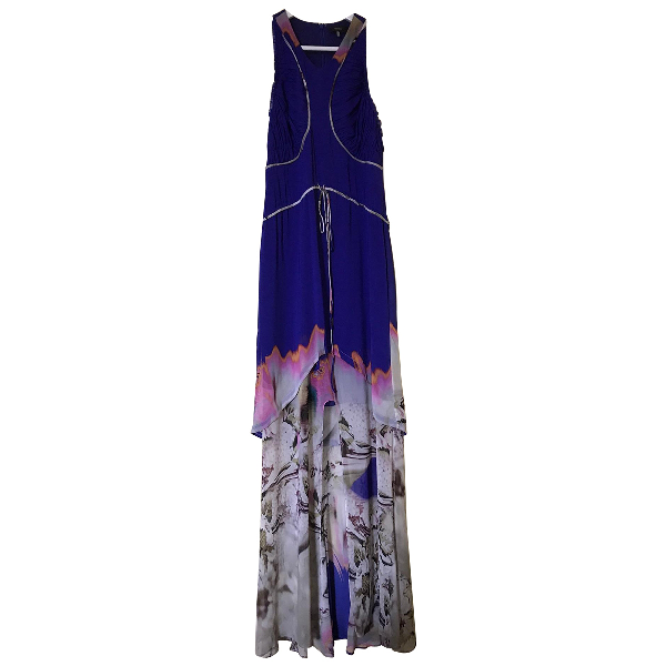 Vera Wang Multicolour Silk Dress