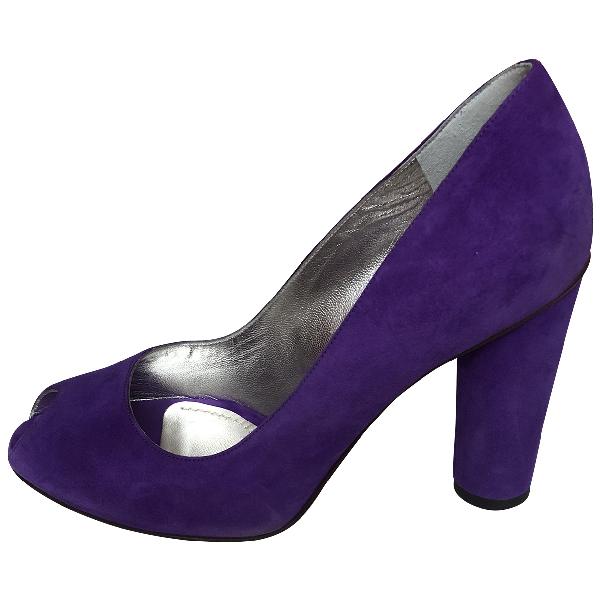 Dolce & Gabbana Purple Suede Heels