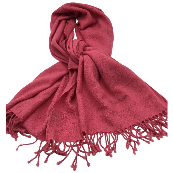 Roberto Cavalli Pink Wool Scarf