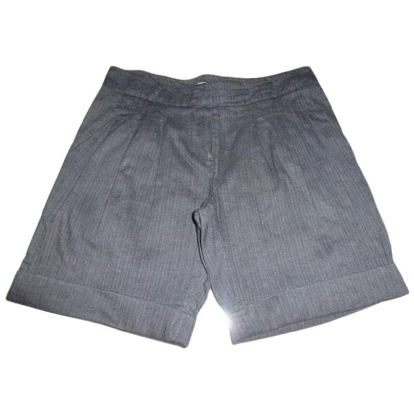 Maje Grey Cotton Shorts