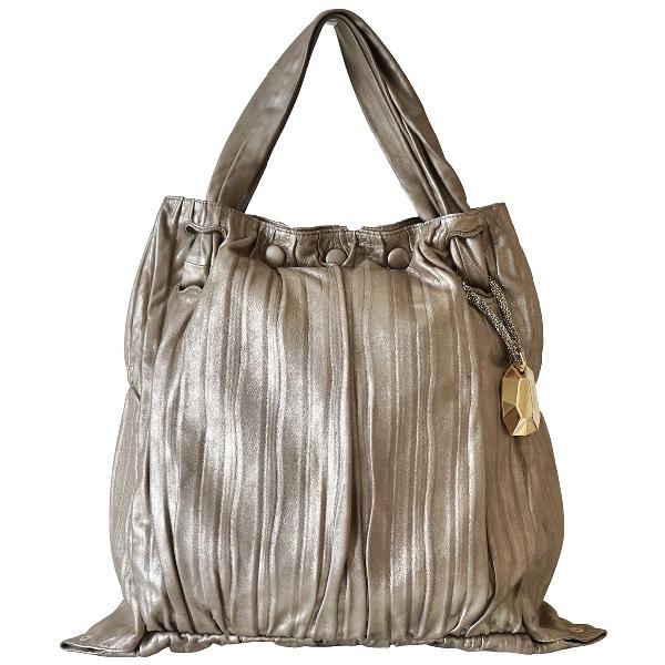 Donna Karan Gold Leather Handbag