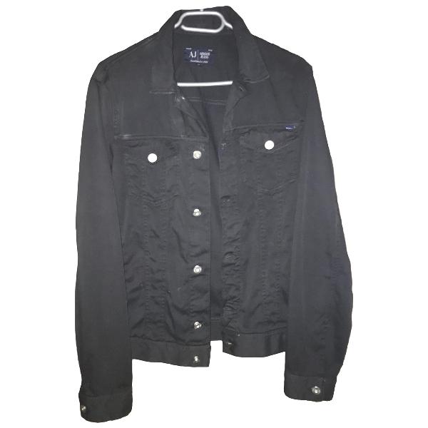 Armani Jeans Black Denim - Jeans Jacket
