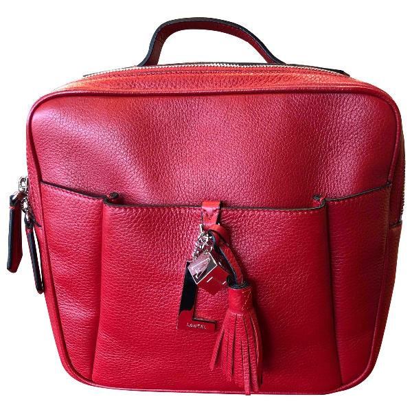 Lancel Nine Red Leather Backpack
