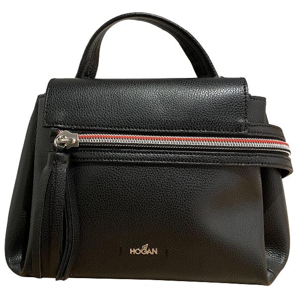 Hogan Black Leather Handbag