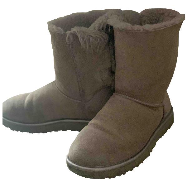 Ugg Pink Suede Boots