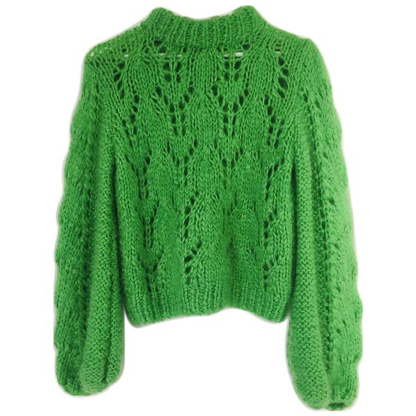 Ganni Fall Winter 2019 Green Wool Knitwear