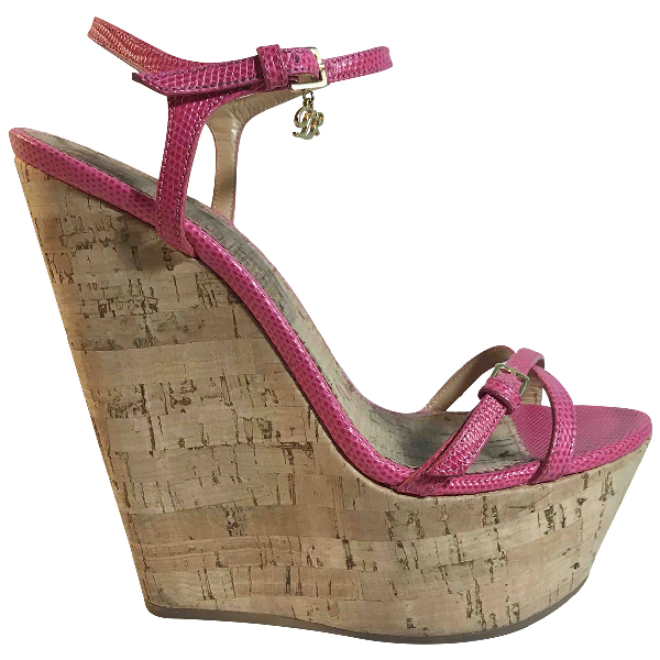 Dsquared2 Pink Leather Sandals