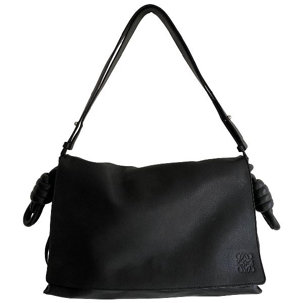Loewe Flamenco Black Leather Handbag