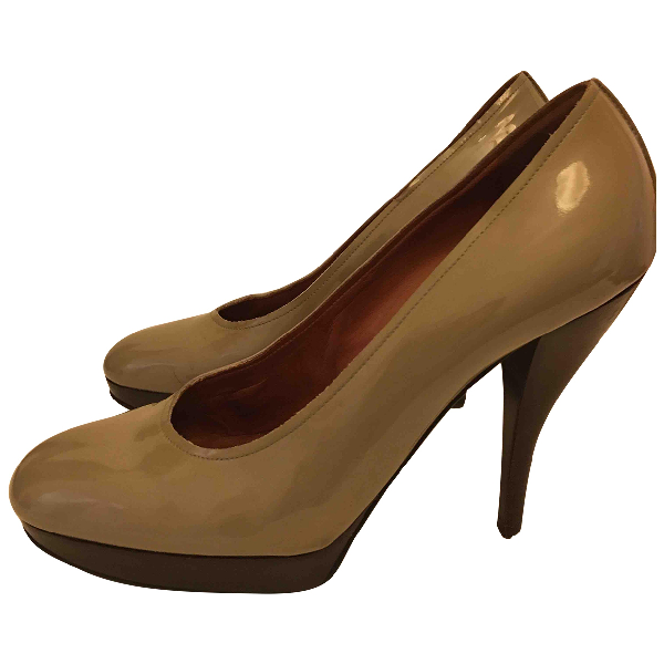 Lanvin Grey Patent Leather Heels