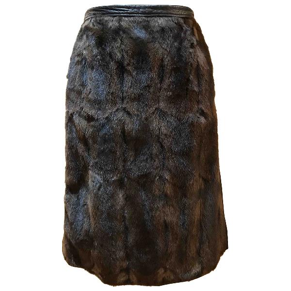 Prada Brown Rabbit Skirt