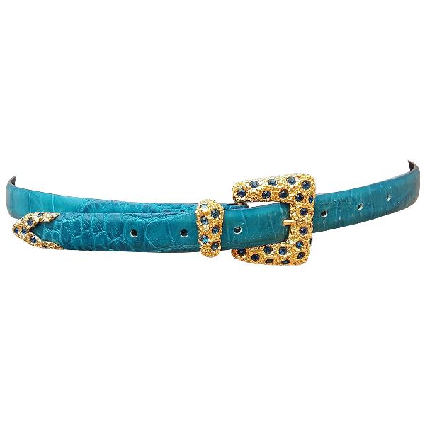 Orciani Blue Leather Belt