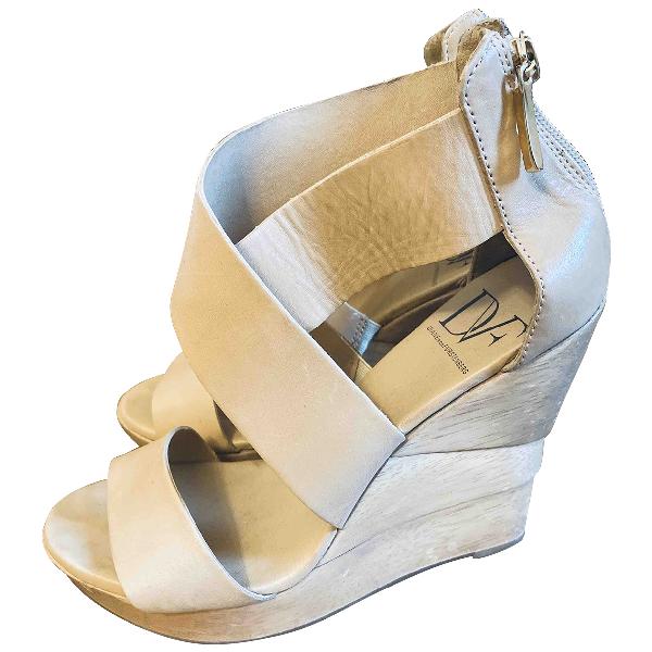 Diane Von Furstenberg Beige Leather Sandals
