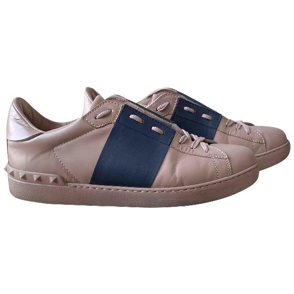 Valentino Garavani Rockstud Pink Leather Trainers