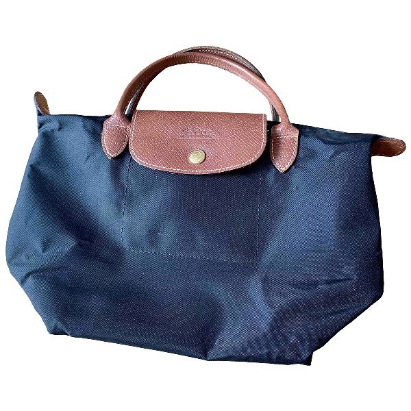 Longchamp Pliage  Black Cloth Handbag