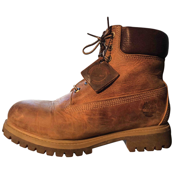 Pre-owned Timberland Beige Leather Boots