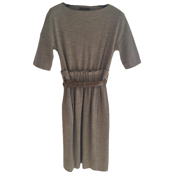 Louis Vuitton Beige Wool Dress