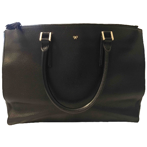 Anya Hindmarch Ebury Maxi  Black Leather Handbag