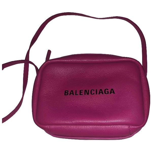 Balenciaga Camera Pink Leather Handbag