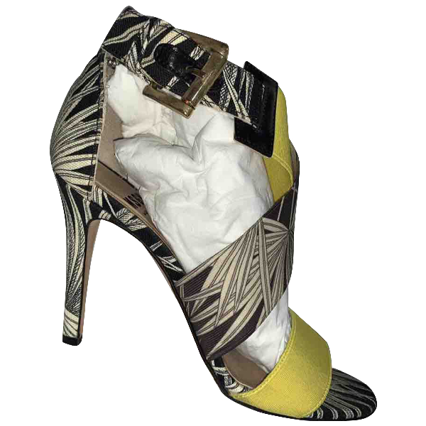 Msgm Yellow Cloth Sandals