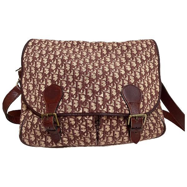 Dior Burgundy Cloth Handbag