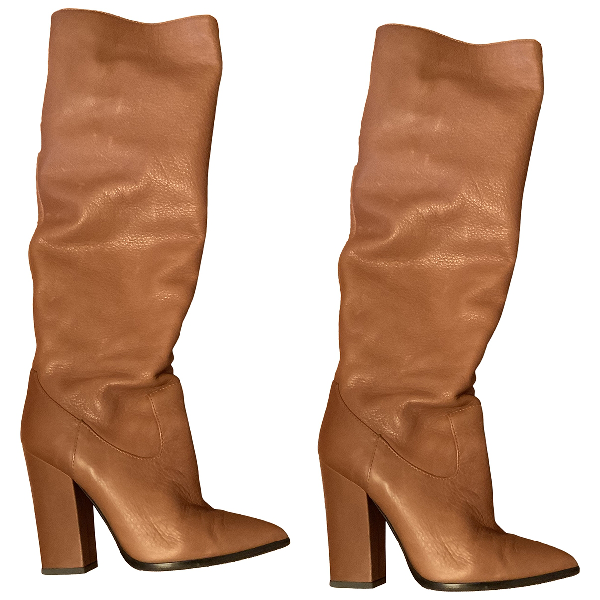 Grey Mer Camel Leather Boots