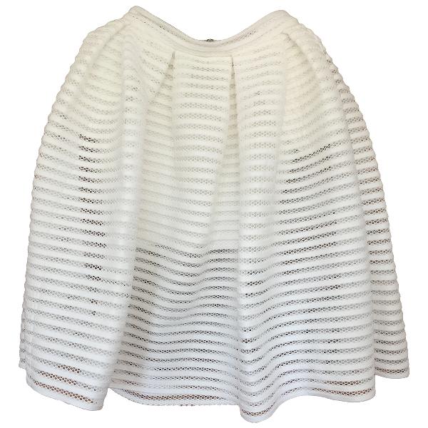 Maje White Skirt