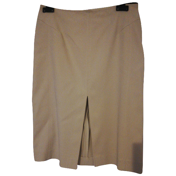 Giuliana Teso Beige Cotton - Elasthane Skirt